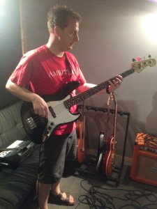 with the good old Jazz Bass - July 2015
